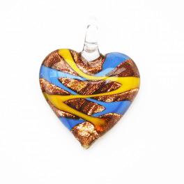 Glashänge hjärta Gul