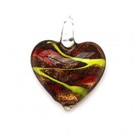 Glashänge hjärta Röd