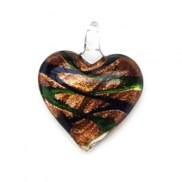 Glashänge hjärta Grön