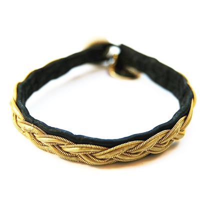 Tenntråd & Läder Svart & Guld